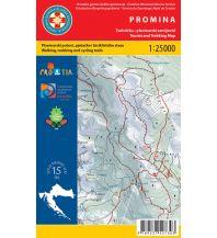 Wanderkarten Kroatien Wanderkarte 19, Promina 1:25.000 Hrvatska Gorska Sluzba Spasavanja