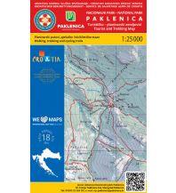 Wanderkarten Kroatien HGSS-Wanderkarte Nacionalni Park Paklenica 1:25.000 Hrvatska Gorska Sluzba Spasavanja