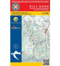 Wanderkarten Kroatien Wanderkarte 28, Dilj Gora 1:25.000 Hrvatska Gorska Sluzba Spasavanja