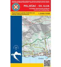 Wanderkarten Kroatien HGSS-Wanderkarte Pelješac, Sveti Ilija 1:50.000/1:20.000 Hrvatska Gorska Sluzba Spasavanja