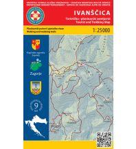Wanderkarten Kroatien HGSS-Wanderkarte Ivanšcica 1:25.000 Hrvatska Gorska Sluzba Spasavanja
