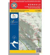 Wanderkarten Serbien & Montenegro HGSS-Wanderkarte Konavle 1:25.000 Hrvatska Gorska Sluzba Spasavanja