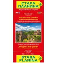 Wanderkarten Serbien & Montenegro Domino-Wanderkarte Stara Planina 3, von Belogradcik bis Berkovica 1:50.000 Domino Sltd.