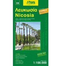 Straßenkarten Zypern Orama Zypern Road & Tourist Map 11, Nicosia/Nikosia 1:100.000 Orama Editions