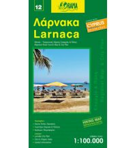 Straßenkarten Zypern Orama Zypern Road & Tourist Map 12, Larnaca 1:100.000 Orama Editions