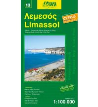 Straßenkarten Zypern Orama Zypern Road & Tourist Map 13, Limassol 1:100.000 Orama Editions