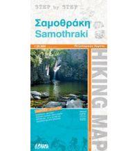 Inselkarten Ägäis Orama Wanderkarte Samothráki 1:35.000 Orama Editions