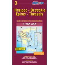 Straßenkarten Griechenland Road Edition Map 3, Epirus, Thessaly/Thessalien (inkl. Pilion) 1:200.000 Road Editions