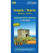 Inselkarten Ägäis Road Hiking Map 209, Ikaría, Foúrni 1:35.000 Road Editions