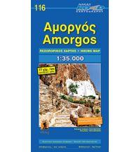 Inselkarten Ägäis Road Hiking Map 116, Amorgós 1:35.000 Orama Editions