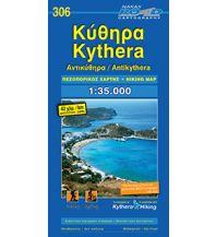 Wanderkarten Griechenland Road Hiking Map 306 Griechenland - Kythera, Antikythera 1:35.000 Road Editions