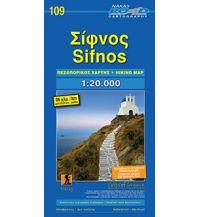 Inselkarten Ägäis Orama Hiking Map 109, Sífnos 1:20.000 Orama Editions
