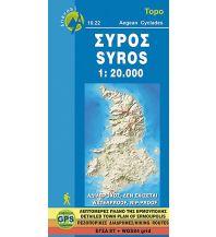 Inselkarten Ägäis Anavasi Topo Islands 10.22, Sýros 1:20.000 Anavasi Mountain Editions
