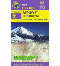 Inselkarten Ägäis Anavasi Topo 25 Map 5.11, Dírfys, Xerovoúni (Euböa) 1:25.000 Anavasi Mountain Editions