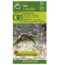 Wanderkarten Peloponnes Anavasi Topo 50 Map 8.5, Mt. Menalo, Arcadia/Arkadien 1:50.000 Anavasi Mountain Editions