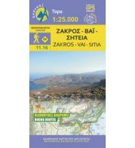 Wanderkarten Kreta Anavasi Topo Kreta 11.16, Zákros, Vái, Sitía 1:25.000 Anavasi Mountain Editions