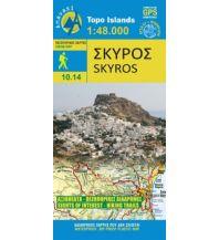 Inselkarten Ägäis Anavasi Topo Islands 10.14, Skýros/Skiros 1:40.000 Anavasi Mountain Editions