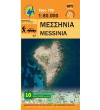 Straßenkarten Griechenland Anavasi Topo 100.17, Messinía/Messenien 1:80.000 Anavasi Mountain Editions