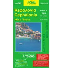 Straßenkarten Orama Straßenkarte - Kefalonia 1:75.000 Orama Editions