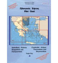 Seekarten Griechenland Eagle Ray Pilot Chart 14 - Chalkidiki - Thermaikos and Strymonikos Gulf 1:255.000 Eagle Ray Publications