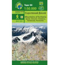 Wanderkarten Griechisches Festland Anavasi Topo 50 Map 2.4/2.5, Mountains of Evritania 1:50.000 Anavasi Mountain Editions