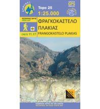 Wanderkarten Kreta Anavasi Topo Kreta 11.17, Frangokástelo, Plakiás 1:25.000 Anavasi Mountain Editions