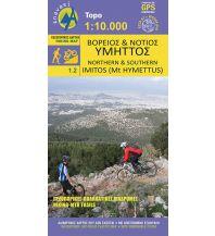 Wanderkarten Griechisches Festland Anavasi Topo 10 Map 1.2, Northern & Southern Imitós/Hymettos 1:10.000 Anavasi Mountain Editions