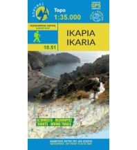 Inselkarten Ägäis Anavasi Topo Island Map 10.51, Ikaria 1:35.000 Anavasi Mountain Editions