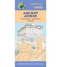 Stadtpläne Anavasi Cultural Map Ancient Athens - Modern Athens 1:6.800 Anavasi Mountain Editions