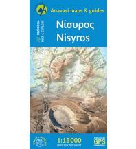 Anavasi Topo Island Map 10.34, Nísyros 1:15.000 Anavasi Mountain Editions