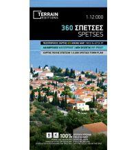Straßenkarten Griechenland Terrain Map 360, Spétses 1:12.000 Terrain