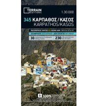 Straßenkarten Griechenland Terrain Map 345, Kárpathos, Kásos 1.60.000 Terrain