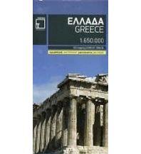 Straßenkarten Griechenland Greece Terrain