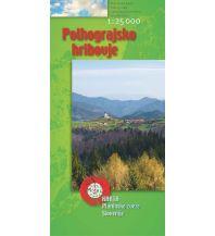 Wanderkarten Slowenien PZS WK Slowenien - Polhograjsko hribovje 1:25.000 Planinska Zveza Slovenije