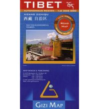 Straßenkarten Gizi Map Tibet , Regionale Straßenkarte China Blatt 5, 1:2.000.000 Gizi Map