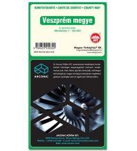 Straßenkarten Ungarn Terkephaz Komitatskarte Ungarn - Veszprem Megye 1:150.000 Magyar Terkephaz