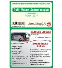 Straßenkarten Ungarn Terkephaz Komitatskarte Ungarn - Györ-Moson-Sopron 1:150.000 Magyar Terkephaz