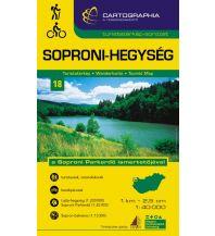 Wanderkarten Burgenland Cartographia-Wanderkarte 18, Soproni-Hegység/Ödenburger Gebirge 1:40.000 Cartographia Budapest