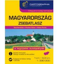 Straßenkarten Cartographia Straßenatlas Ungarn - Magyarorszag Zsebatlasz 1:330.000 Cartographia Budapest