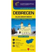 Stadtpläne Cartographia Stadtplan - Debrecen 1:20.000 Hajdú-Bihar megye 1:200.000 Cartographia Budapest