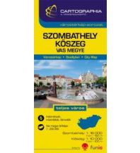 Stadtpläne Cartographia Stadtplan Szombathely/Steinamanger 1:16.000, Koszeg/Güns 1:10.000 Cartographia Budapest