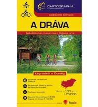 Radkarten Cartographia Radwanderkarte - A Dráva/Drau-Radweg 1:75.000 Cartographia Budapest