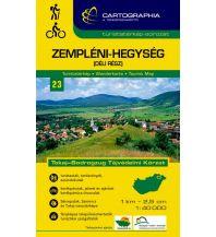 Wanderkarten Ungarn Cartographia Wanderkarte 23 Ungarn - Zempleni-Hegyseg South 1:40.000 Cartographia Budapest