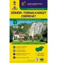 Wanderkarten Cartographia Wanderkarte 1 Ungarn - Aggtelek Mountains (Gömör-Tornai-Karszt) 1:40.000 Cartographia Budapest
