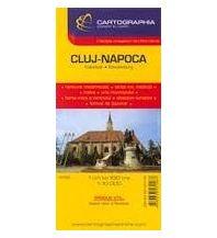 Stadtpläne Cartographia Stadtplan - Cluj Napoca Kolozsvar  Oradea  1:15.000 Cartographia Budapest