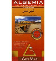 Straßenkarten Algeria, Morocco, Tunisia, Geographical Map Gizi Map