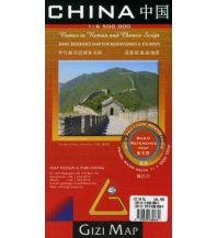 Straßenkarten Gizi Map China, Basic Reference Map Gizi Map