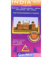 Straßenkarten Gizi Map India, Road Map Gizi Map