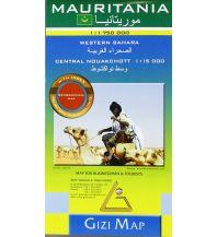 Straßenkarten Mauritania, Geographical Map Gizi Map