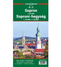 Stadtpläne Szarvas Wander- und Radkarte Ödenburger Gebirge/Soproni-hegység 1:50.000/1:25.000 Szarvas Andras